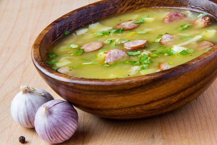 split pea soup featuring scott pete sausage